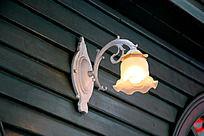 欧式花纹铁艺荷叶边壁灯