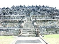 婆罗浮屠世界文化遗产一景