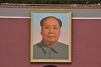 天安门城楼上的毛主席像特写