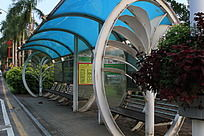 城市公交车站牌
