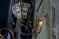 欧式花纹铁艺壁灯