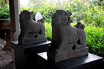 古代石狮雕刻艺术摄影