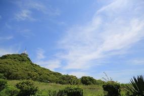 蓝天下辽阔的草原