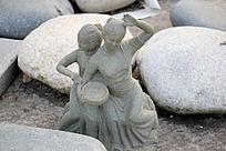 仕女石头雕刻艺术摄影