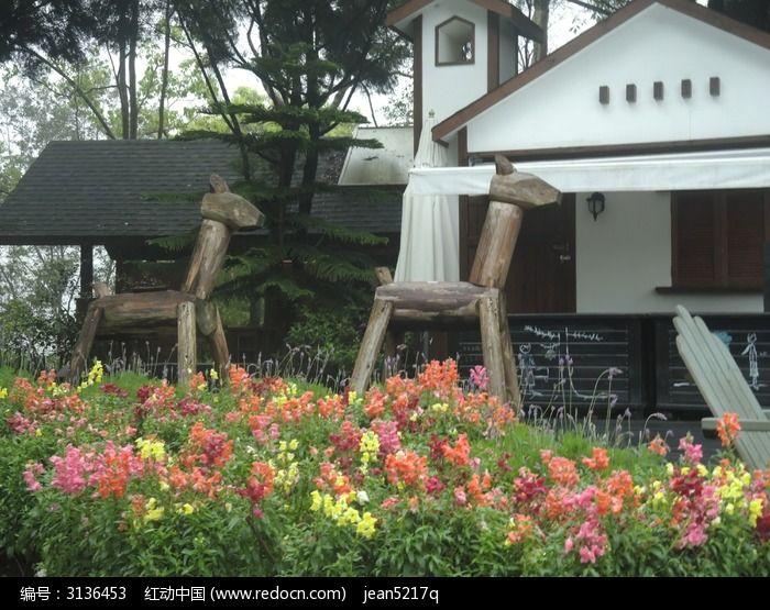 台湾薰衣草森林的造景图片
