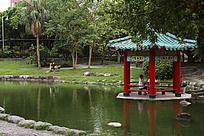 罗东公园的凉亭