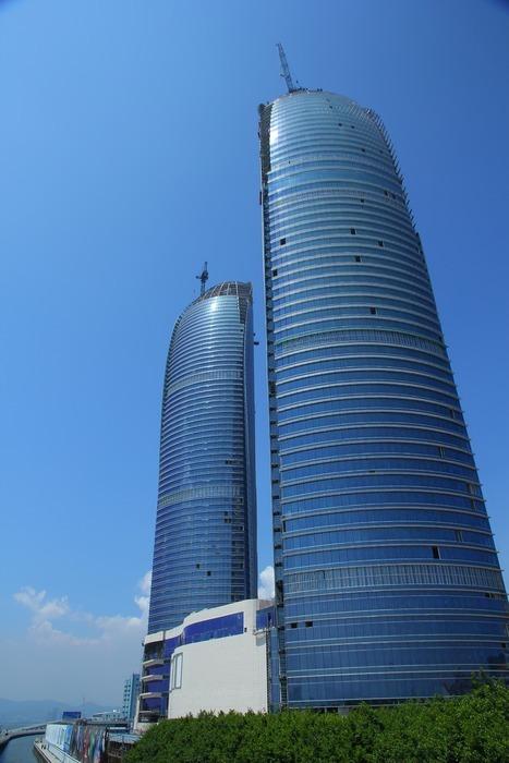 厦门双子塔 高楼 大厦