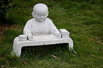 小和尚石雕艺术图片摄影