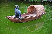 菜博会雕塑之船头的鸟儿
