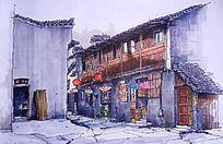 宏村手绘图