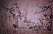 徽州建筑手绘