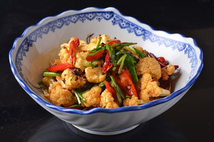 韭菜炒花菜美食