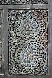 滕王阁里的浮雕花纹