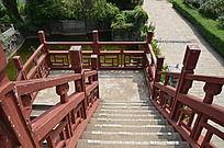 滕王阁里的木质楼梯