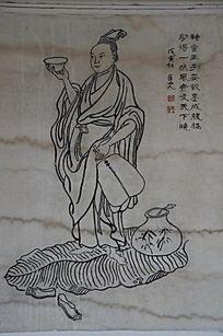 滕王阁里的王勃雕像