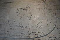 滕王阁里的王勃浮雕