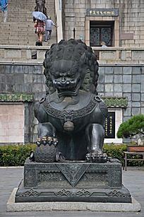 滕王阁入口处的狮子