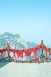 华山的祈祷红绳