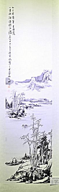 宁静的山水水墨画