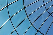 中国长乐绿化馆里天花板上的线条感