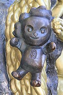 一个福娃铜雕