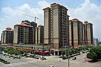 广州城市街角的楼群