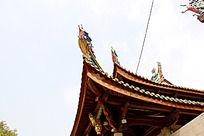中国寺庙一角建筑