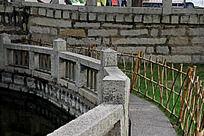 竹篱笆走道石栅栏