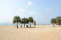 沙滩海边风景图