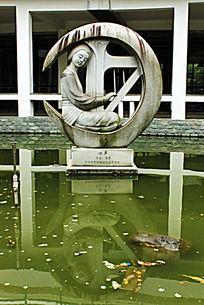 第四届中国雕刻艺术节作品心声及湖面倒影