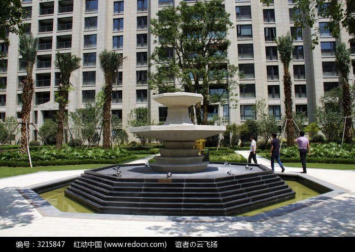 喷水池建筑图片