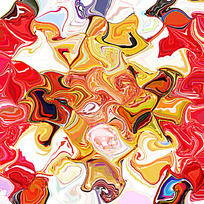 抽象 丝巾花型