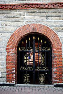 欧式花纹复古铁艺大门