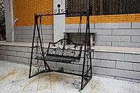 欧式花纹铁艺秋千椅