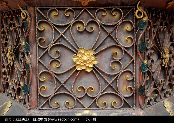 欧式花纹铁艺特写图片图片