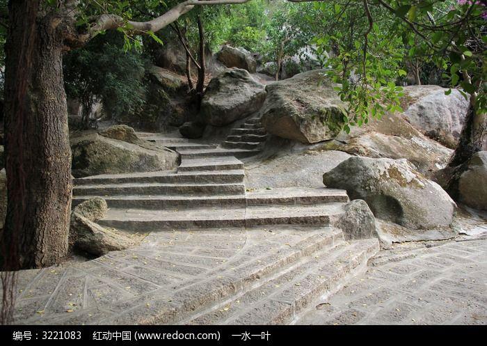园林阶梯山石建设图片,高清大图_园林景观素材