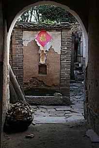 中原农村民居的影壁
