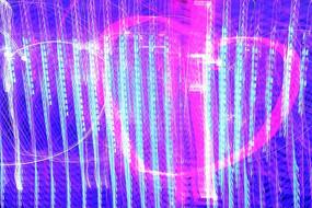 爱心及线条光线背景