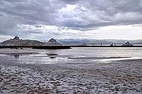 茶卡盐湖的盐雕