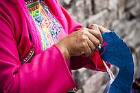 藏族纯手工刺绣传统工艺技术 鞋垫