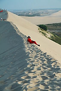 沙漠上的美女