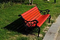 侧拍欧式公共长椅