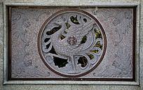 传统中国花纹凤凰石雕