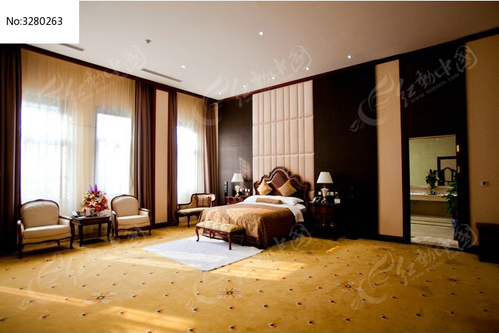 欧式风格豪华卧室高清摄