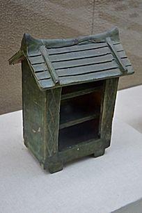 绿釉陶粮仓