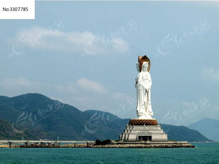 三亚南海观音雕像图片
