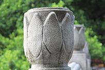 石柱上的花纹雕刻