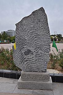 线条花纹石头