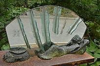 寓言故事《黄粱美梦》艺术雕塑