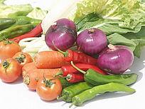 摆拍一堆蔬菜水果图